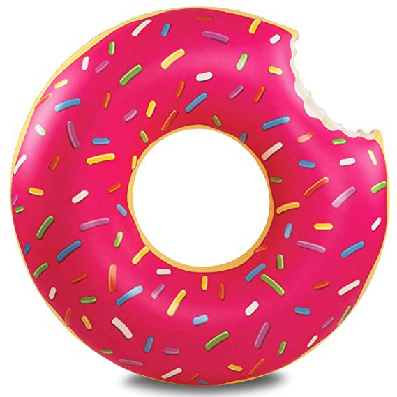 Amazon.com: BigMouth Inc Gigantic Donut Pool Float, Funny Inflatable Vinyl Summer Pool or Beach Toy, Patch Kit Included: Toys & Games