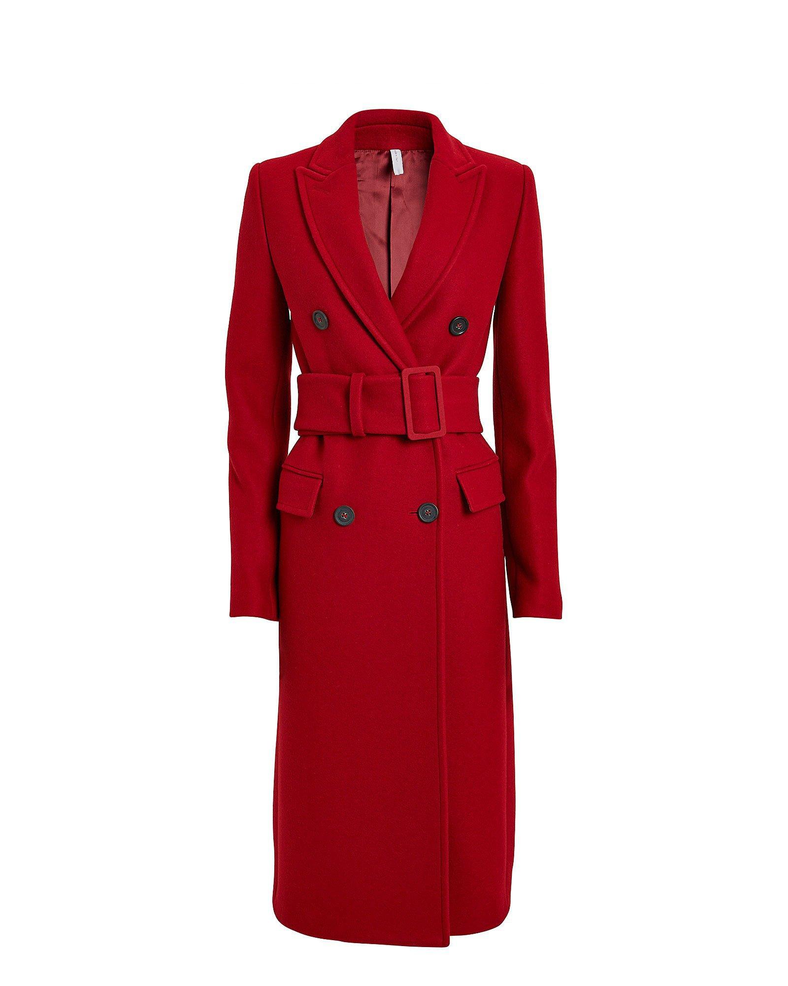 Melton Wool Double Breasted Coat