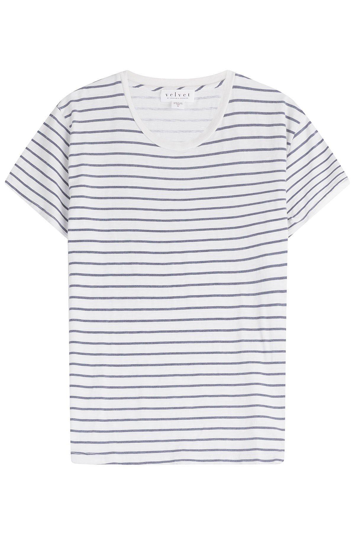 Henni Striped Cotton T-Shirt Gr. S