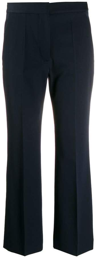 cropped flared tailored trousers