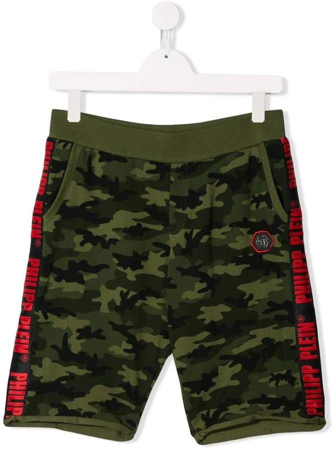 Junior camouflage print shorts