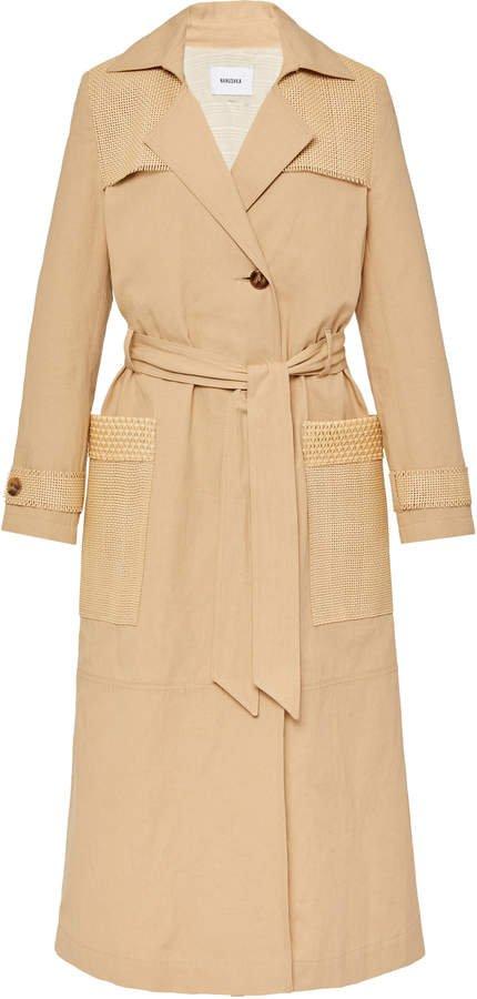 Nanushka Alex Belted Cotton Trench Coat Size: S
