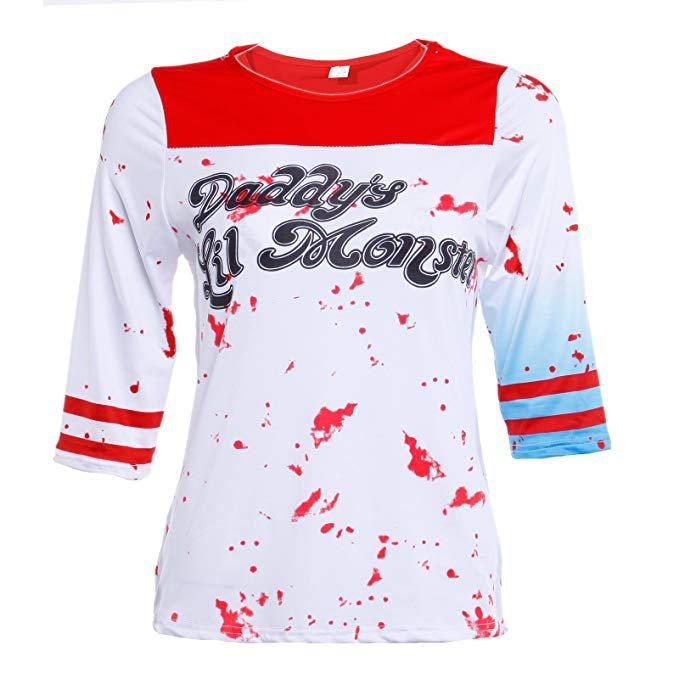 Chemise T-shirt De Deguisement COSTUME Harley Quinn Suicide Squad Lil Monster de Papa halloween: Amazon.fr: Jeux et Jouets
