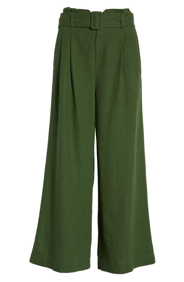 BP. Belted Wide Leg Linen Blend Pants (Regular & Plus Size)   Nordstrom