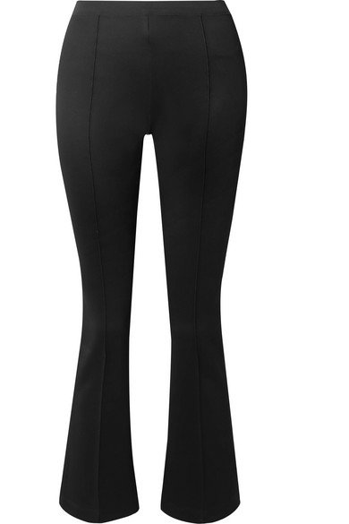 Helmut Lang | Cropped stretch-jersey flared pants | NET-A-PORTER.COM