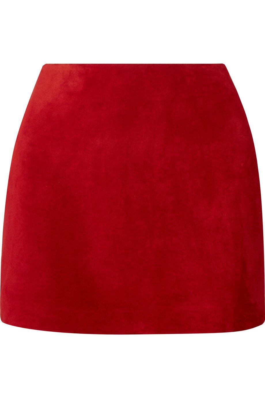 SAINT LAURENT | Suede mini skirt | NET-A-PORTER.COM