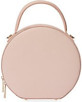 Hot Sale: TDE Women's Leather Circle Bag - Pale Pink