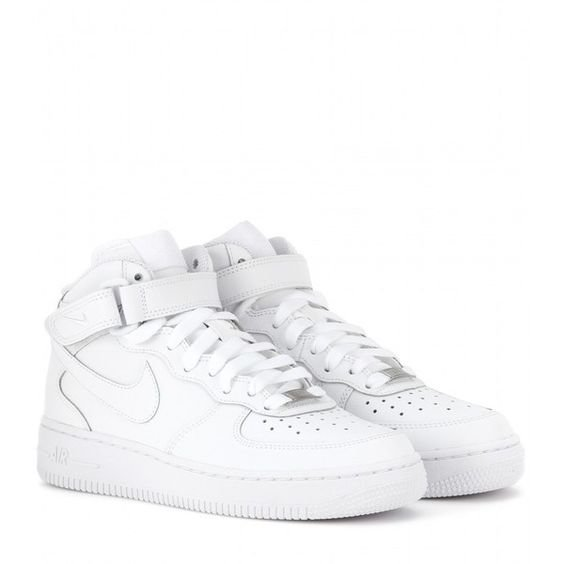 Nike Nike Air Force Mid '07 Leather High-Top Sneakers