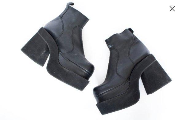 80s True Vintage Black Mega Platform Boots Luichiny Goth | Etsy