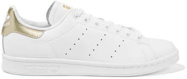 Stan Smith Metallic-trimmed Leather Sneakers - White