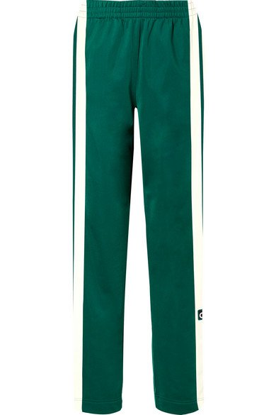 adidas Originals | Adibreak striped satin-jersey track pants | NET-A-PORTER.COM