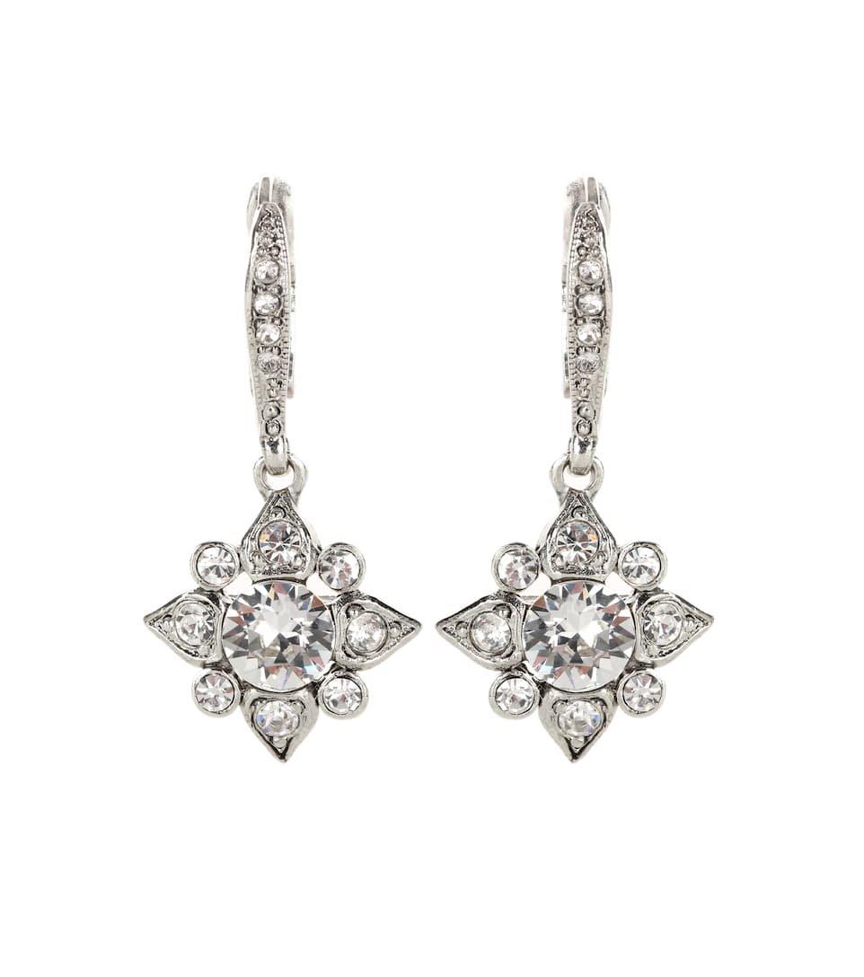 Swarovski Crystal-Embellished Earrings - Oscar de la Renta | mytheresa.com