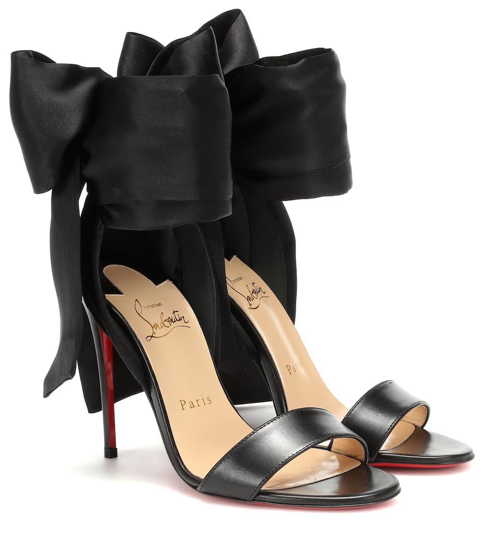 Sandale Du Desert Leather And Satin Sandals | Christian Louboutin - Mytheresa