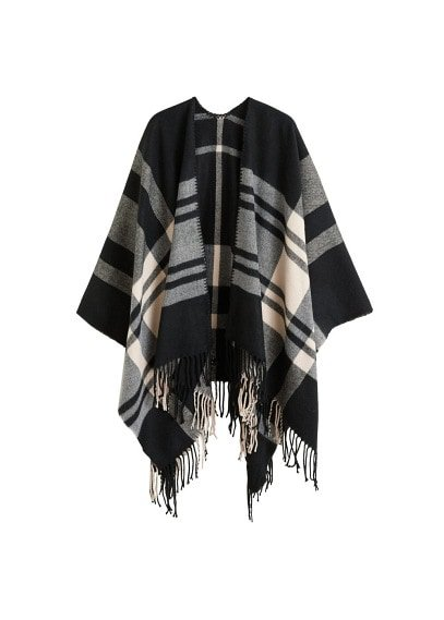 Violeta BY MANGO Check poncho