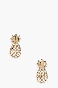 Laura Pineapple Stud Earrings