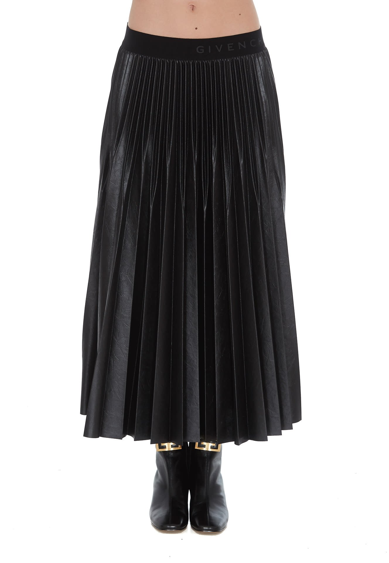 Givenchy Jersey Pleated Skirt
