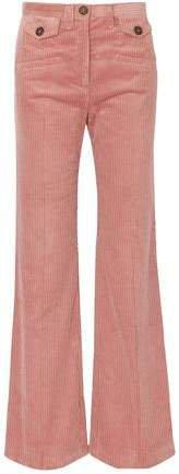 Cotton-blend Corduroy Bootcut Pants