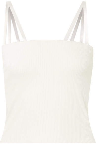 The Range - Alloy Ribbed Stretch-jersey Tank - White