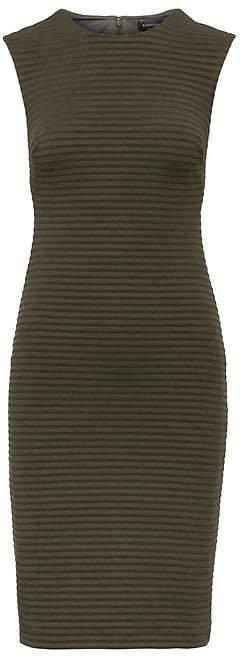 Rib-Knit Sheath Dress