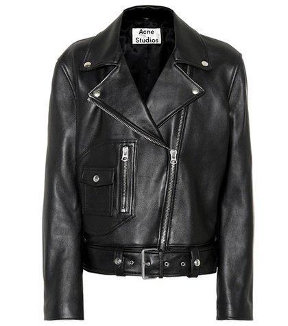 Boxy Biker leather jacket