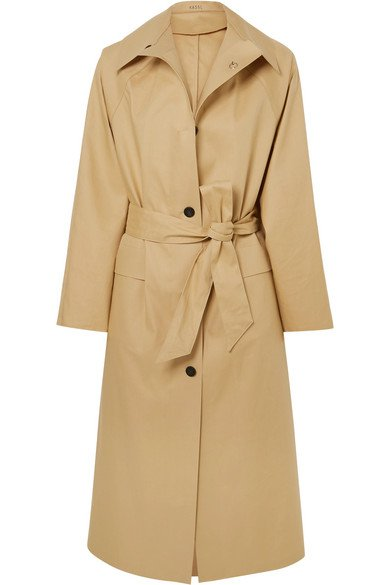 Kassl Editions | Belted cotton-blend canvas trench coat | NET-A-PORTER.COM