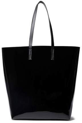Faux Patent-leather Tote