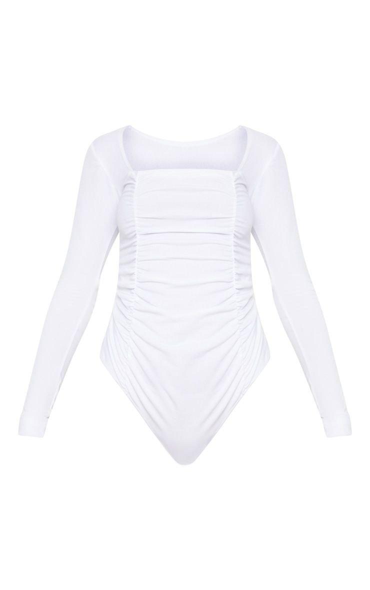 White Bodysuit   Tops   PrettyLittleThing