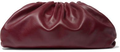 The Pouch Leather Clutch - Burgundy
