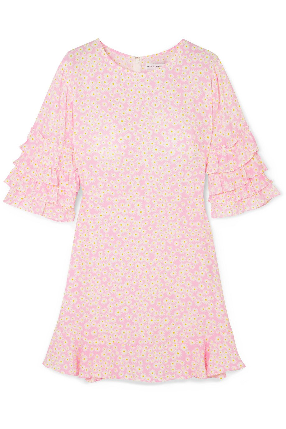 Faithfull The Brand | Serafina ruffled floral-print crepe mini dress | NET-A-PORTER.COM
