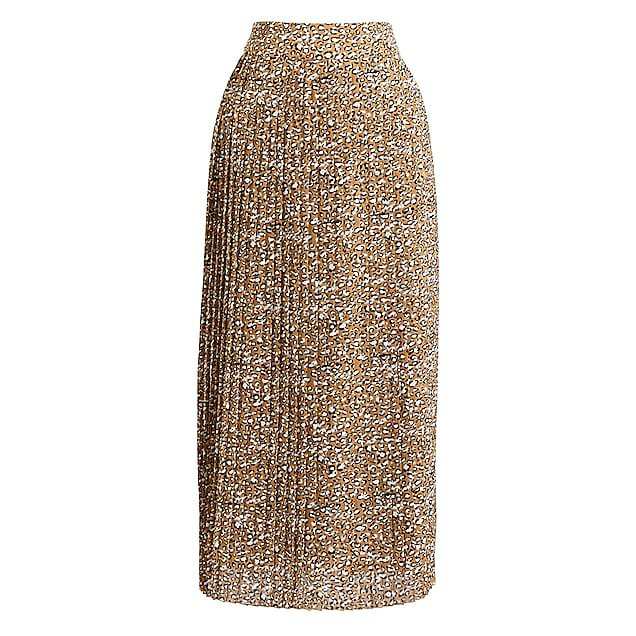 J.Crew Factory: Pleated midi skirt in print