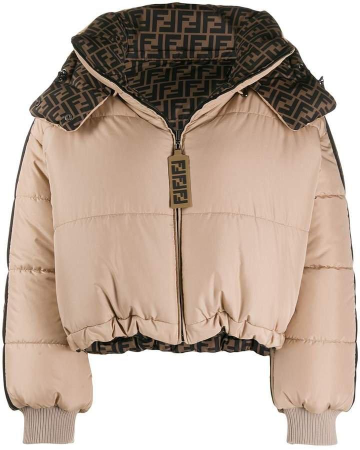 logo reversible puffer jacket