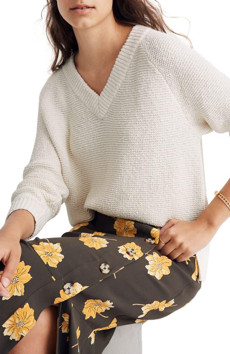 Madewell Arden V-Neck Pullover Sweater | Nordstrom