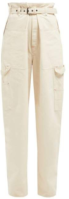 Inny Paperbag Waist Jeans - Womens - Ivory