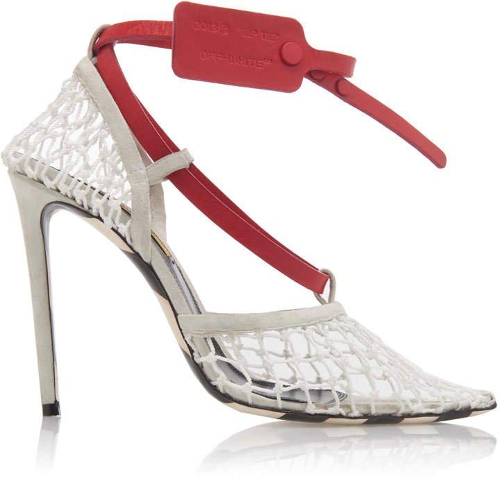 Zip Tie D'Orsay Knit Pump Size: 36