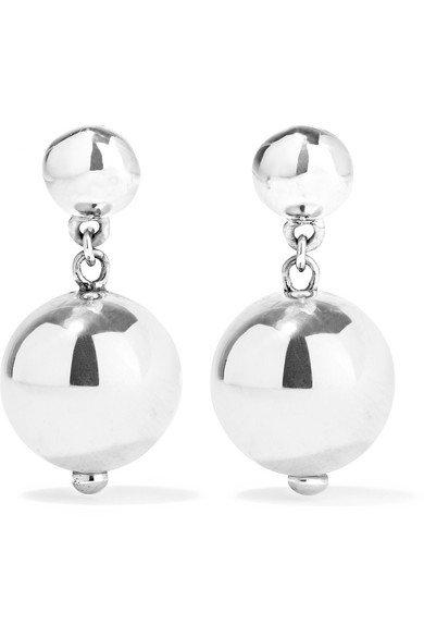 Sophie Buhai | Ball Drop silver earrings | NET-A-PORTER.COM