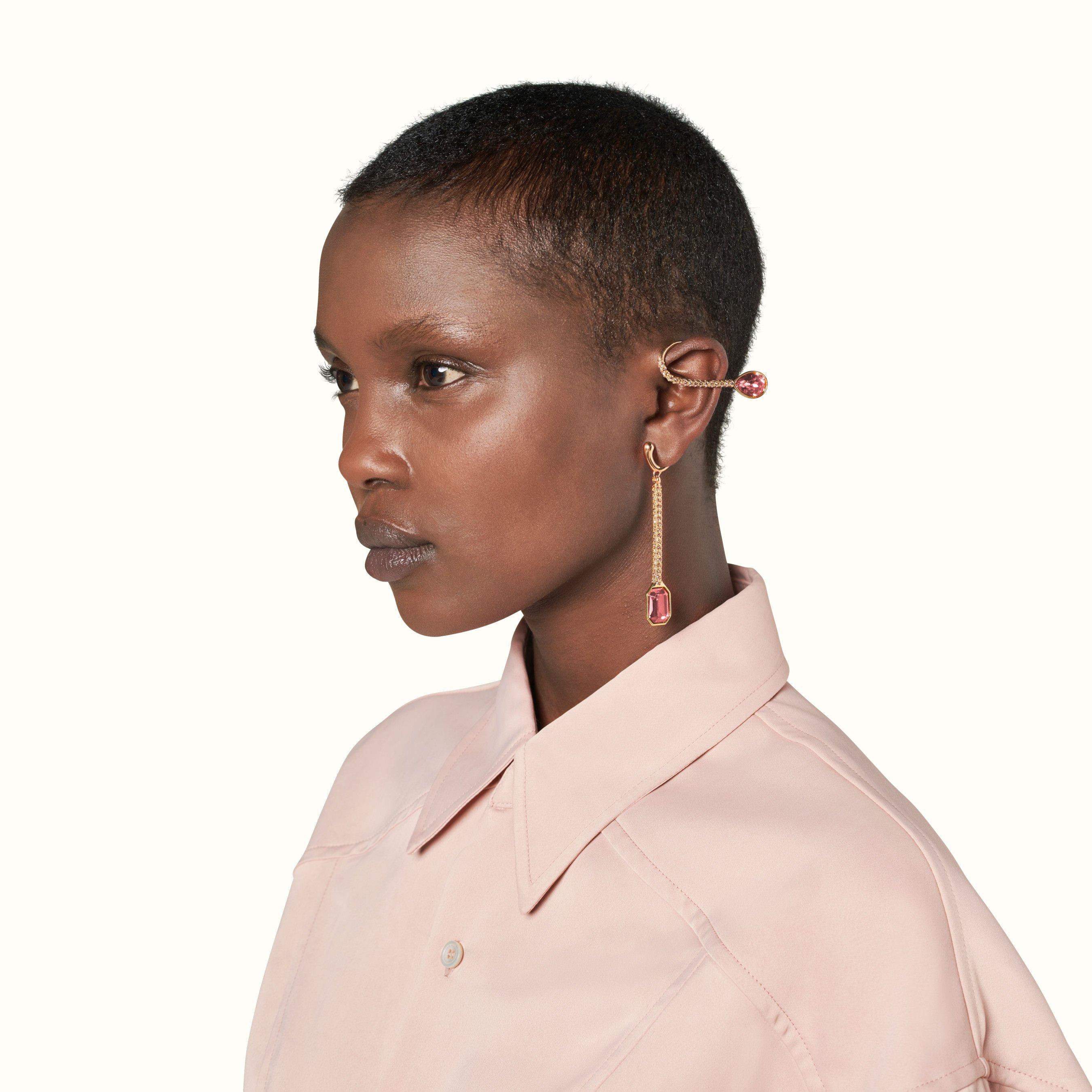 Roped In rose-tone ear cuffs long   FENTY