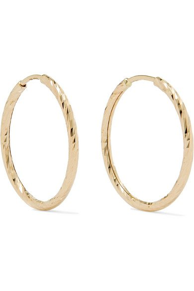 Maria Black | Liv gold hoop earrings | NET-A-PORTER.COM