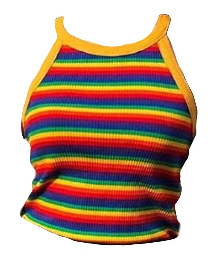 rainbow shirt top png