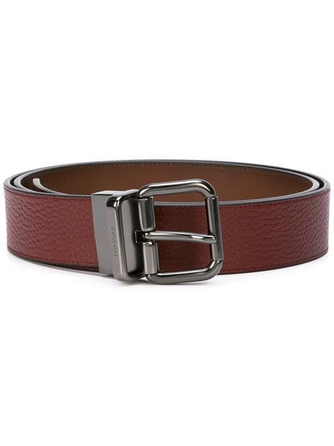 Coach buckle leather belt
