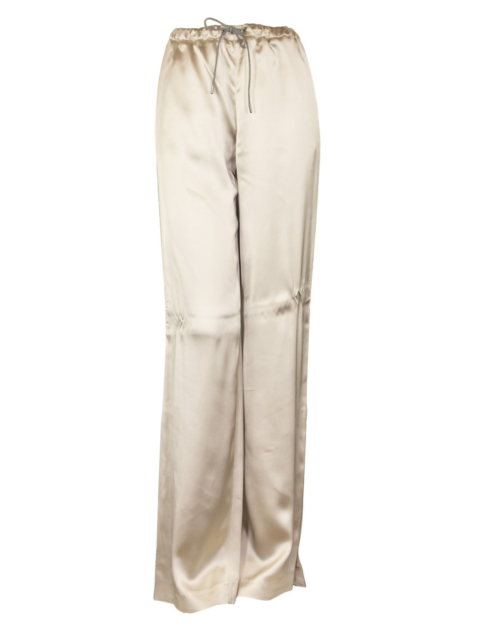 Fabiana Filippi Gubbio Woven Viscose Pants, Beige And Grey
