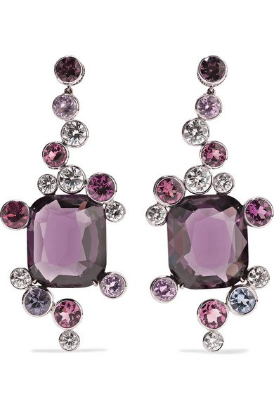 Martin Katz   18-karat white gold multi-stone earrings   NET-A-PORTER.COM