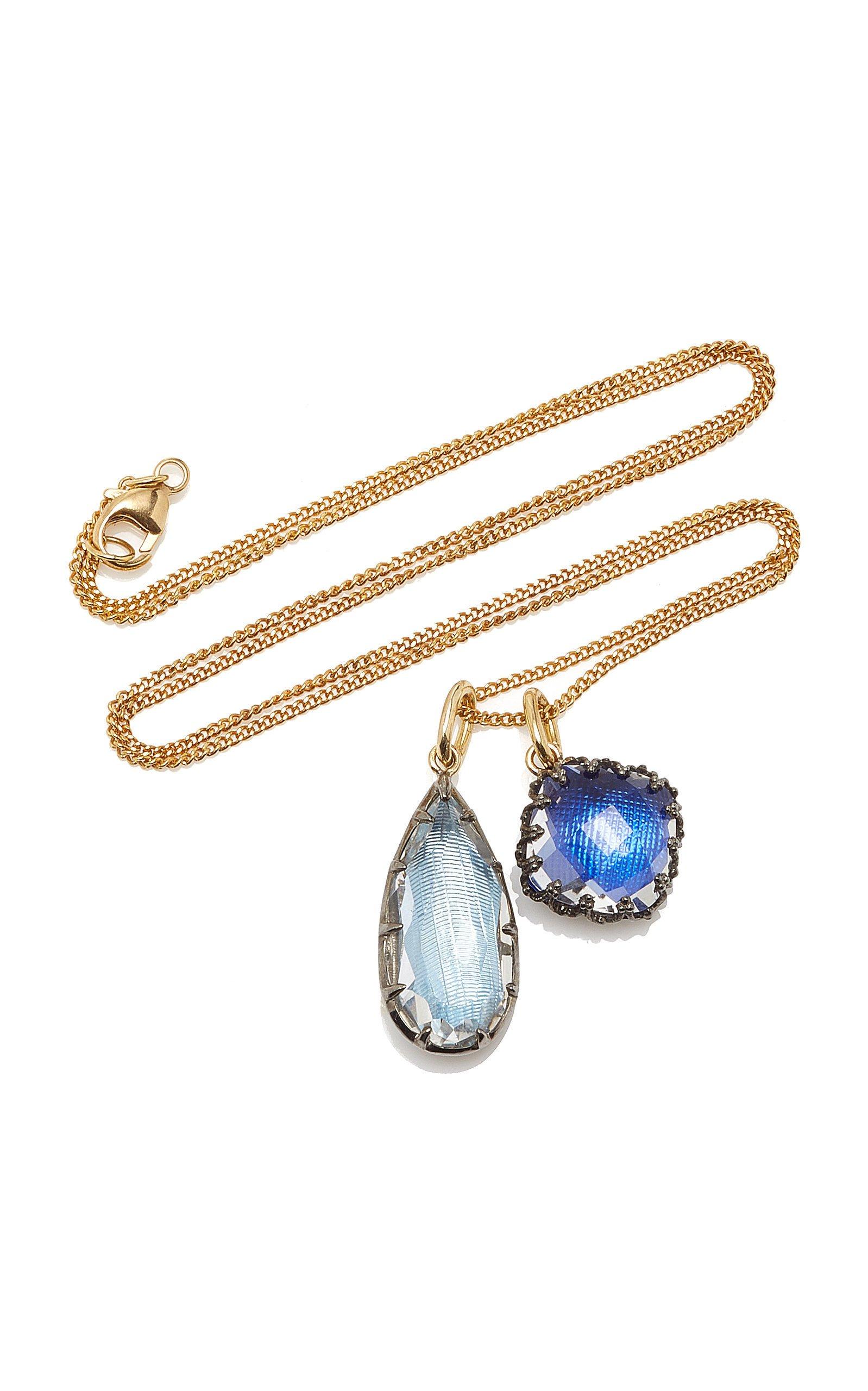 Larkspur & Hawk Lady Emily 14K Gold Black Rhodium Sterling Silver And Quartz Necklace