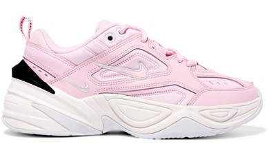 M2k Tekno Leather And Neoprene Sneakers - Baby pink