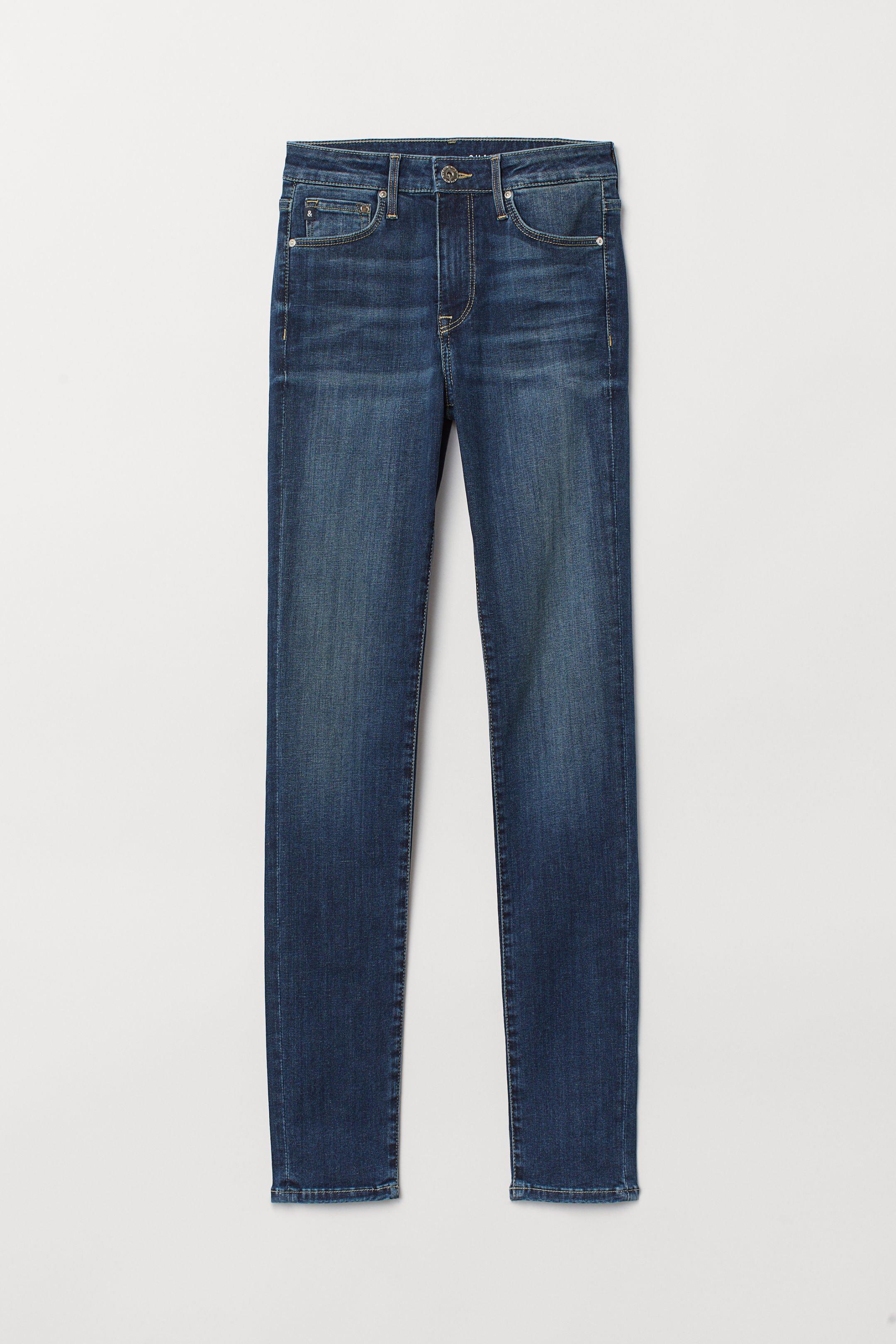 Shaping Skinny Regular Jeans - Dark denim blue - Ladies | H&M US