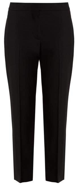 Crepe Cigarette Fit Trousers - Womens - Black