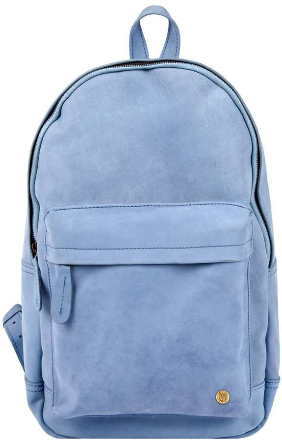 MAHI Leather - Leather Classic Backpack Rucksack In Pastel Blue