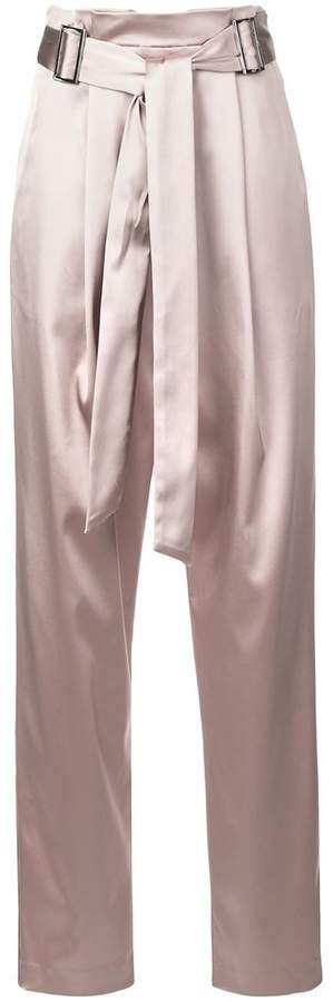 Sally Lapointe tie waist tapered trousers