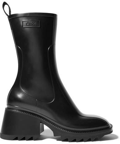 Betty Rubber Boots - Black