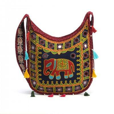 Lakshmi Embroidered Handbag | BohoCrossbody Bags - Mystic Self LLC
