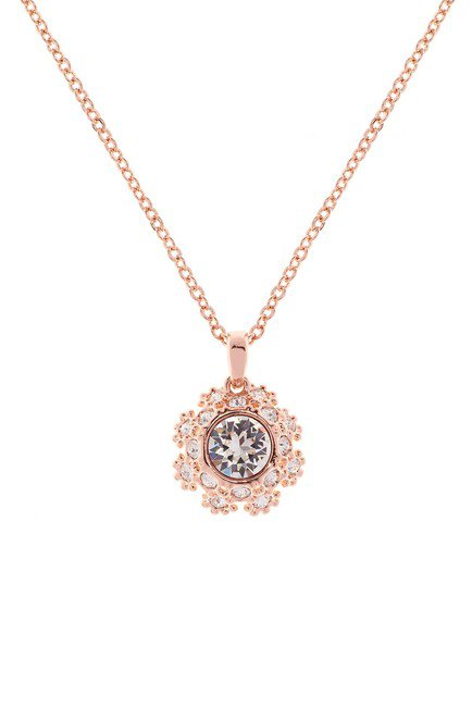 Ted Baker London | Swarovski Crystal Embellished Sirou Crystal Daisy Lace Pendant Necklace | Nordstrom Rack